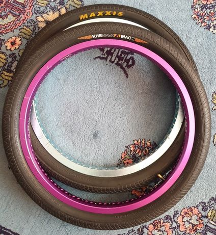 janta BMX - FLY Classic turcoaz + anvelopa maxxis grifter