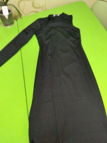 Официална,дълга рокля с един ръкав