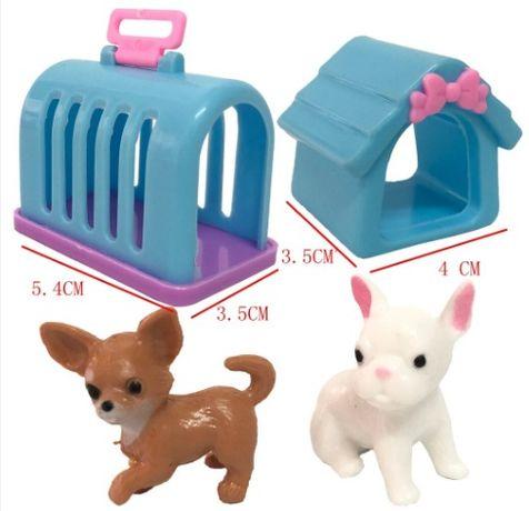 Коте и куче за Барби с къщички
