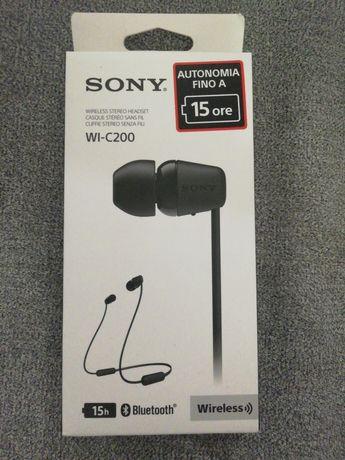 Casti sport wireless Sony WI-C200 negre Noi