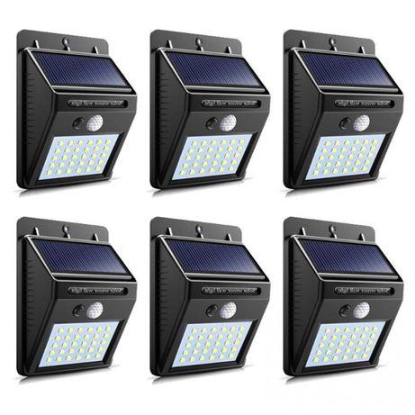 set 6 bucati -Lampa solara 30 LED, senzor de miscare
