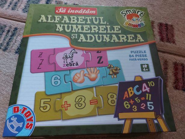 Joc educativ Sa invatam alfabetul, numerele