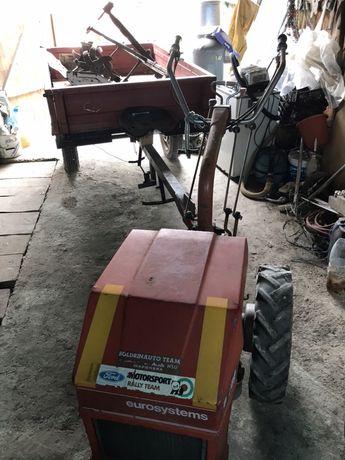 Motocultor cu remorca si accesorii