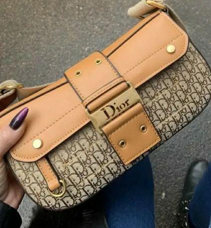 Модная стильная сумка Dior люксовая кожаная
