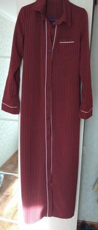 Продается платье рубашка бордового цвета