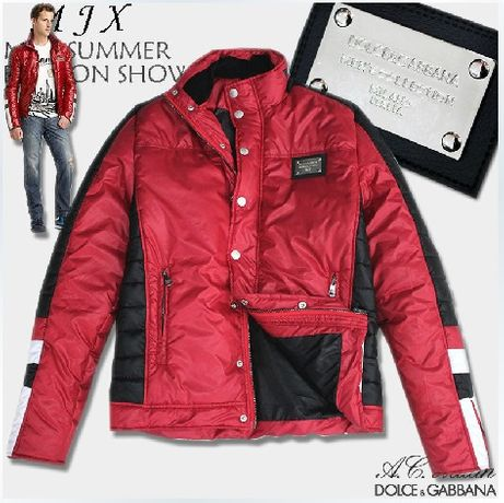 D&G Dolce and Gabbana Red Biker Мъжко Яке size 46 (S / M)