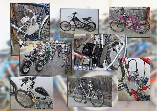 Biciclete cu motor in 2Timpi, 4Timpi pe benzina !