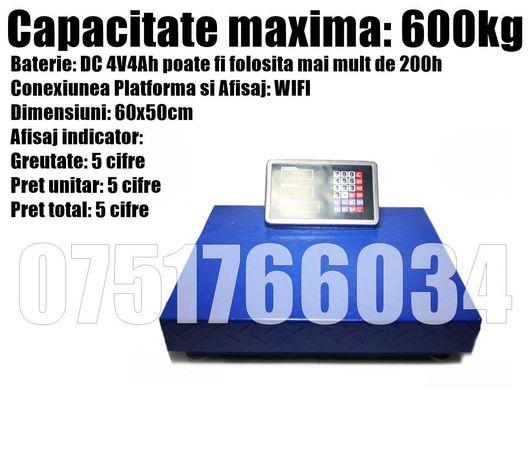 Cantar Platforma Electronic Baterie WIFI 600kg + LIVRAREA GRATUITA