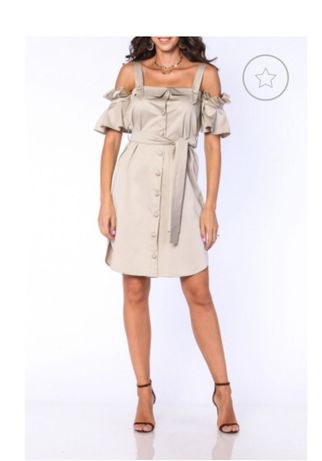 rochie TGH Fashion bej scurta