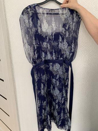 Платье, б/у, натуральный шёлк, Massimo Dutti