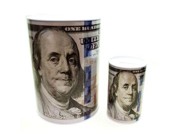 Метална касичка за монети и банкноти