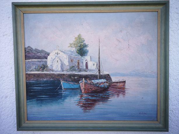 Tablou port mediterana