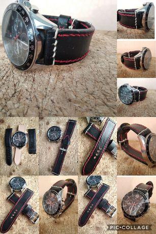 Кожена каишка за часовник ръчно изработени tissot,seiko,orient,citizen
