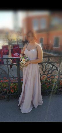 Rochie lungă superba de nasă/ nuntă / botez