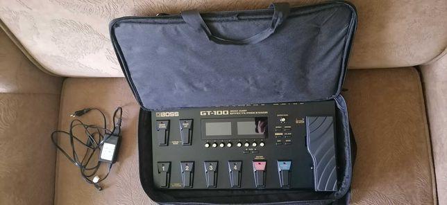Processor chitara electrica BOSS GT 100 +husa +104 efecte profi