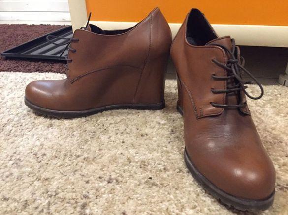 Италиански обувки естествена кожа нови - намалени