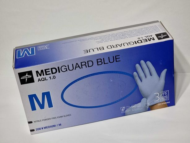 Set 200 buc mănuși nitril Mediguard Blue