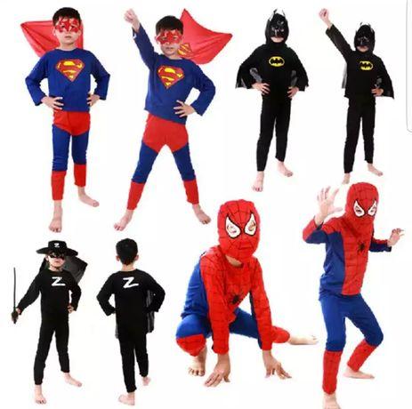 Промоция!!!Детски костюми на Спайдермен, Супермен и Батман