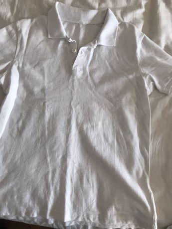 Tricou alb polo, mărime 140
