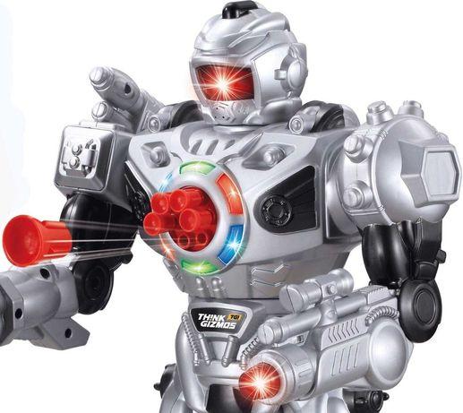 Робот с дистанционно think gizmos стреля, говори, ходи, танцува