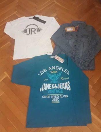 НОВИ детски блузи RICHMOND,WANEX и риза SMALL GANG,12 г.момче:
