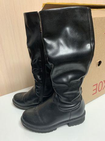 Зимние кожаные сапоги для девочки, 35 размер