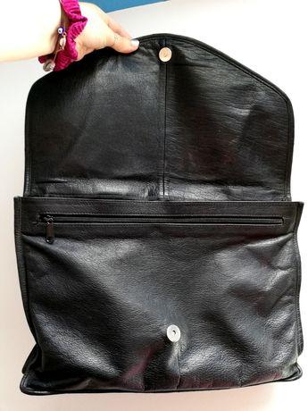 Vintage Freygang oversized envelope leather bag