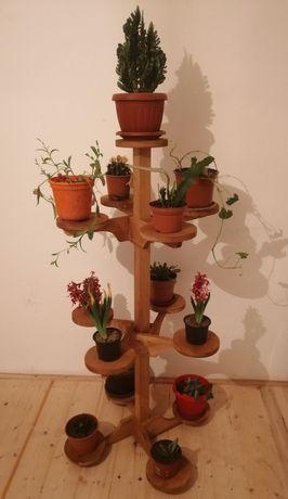 Suport Pentru Flori Din Lemn Masiv Model Large Tower