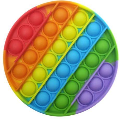 Кръгли Popit Rainbow Pop it попит / поп ит силиконова fidget игра на т