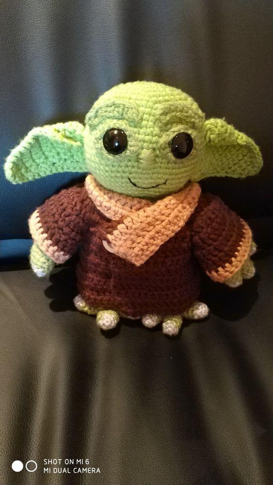 Jucărie croșetată, Star wars , Baby yoda crosetat Iasi - imagine 1