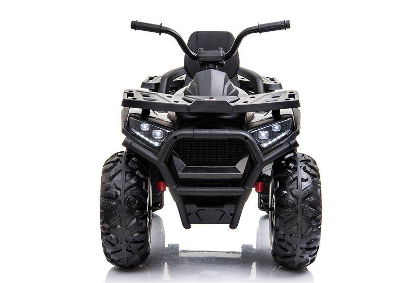 ATV electric pentru copii BJ607 12V 90W cu Scaun Tapitat #Negru Resita - imagine 1