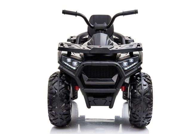 ATV electric pentru copii BJ607 12V 90W cu Scaun Tapitat #Negru