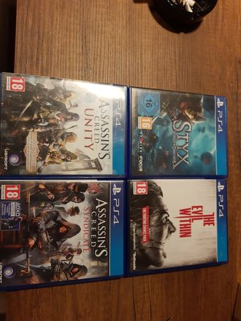 Styx , Evil within , Assassins Creed Unity , Syndicate ps4