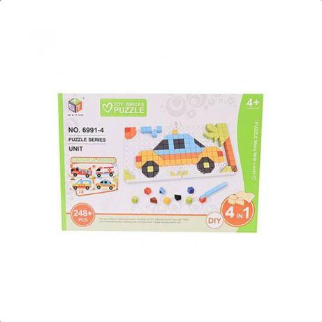 Puzzle 3D educativ copii 4in1 cu masinute