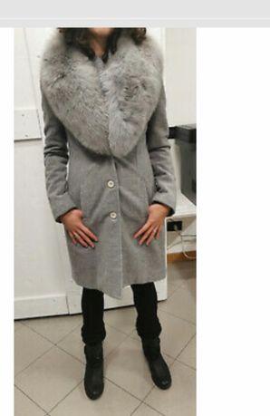 Palton lana ,cachemire si Vulpe