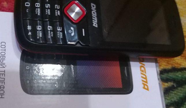 Нов в упаковке моб тел DIGMA pro с 2 сим картами,,2.4 дисплей