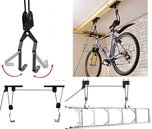 Практична стойка за окачане на колело тип кран