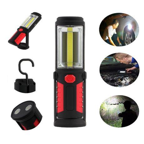 Презареждаща се работна лампа с мощна ЛЕД светлина кука и магнити