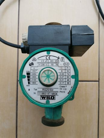 Pompă recirculare apă Wilo RS25/50r centrală termică + supapă sens