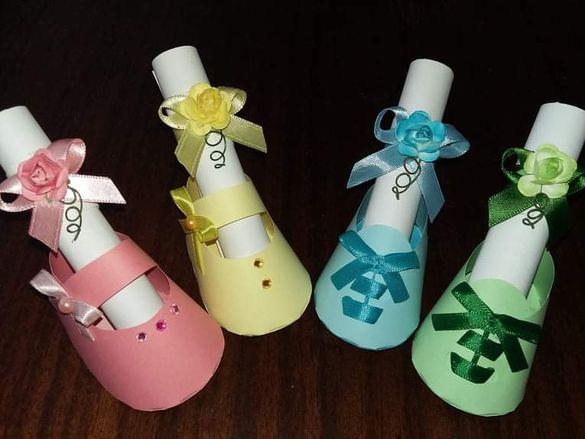 Покани детска обувка / подаръци за гостите