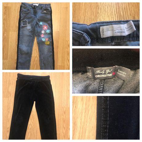Джинсы Zara, Orchestra, велюровые брюки на 4-5 лет