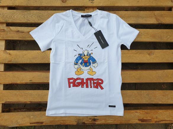 Dolce and Gabbana Donald Duck мъжка / дамска тениска размер 46 (XS)