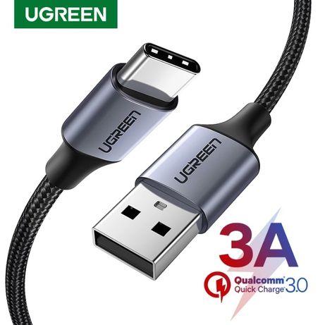 Кабел USB - Type-C, UGREEN, Fast charge 3A, Зарядни кабели