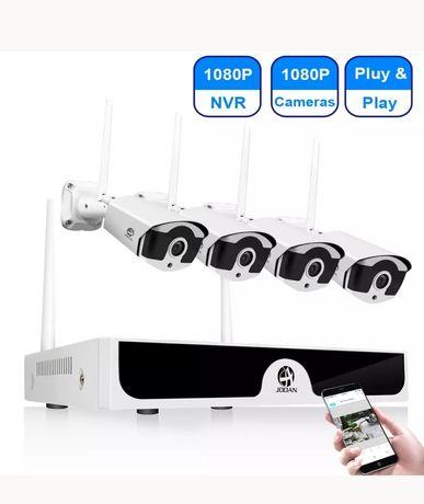 Supraveghere wireless 4 camere FULL HD,transmisie 500 metri,H265, Nou