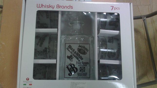 Whisky set 7 piese nou în cutie sigilata
