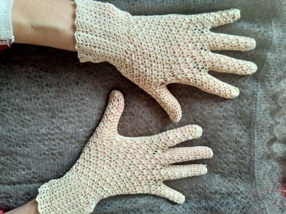 Фини плетени ръкавици на една кука от макраме 3 модела