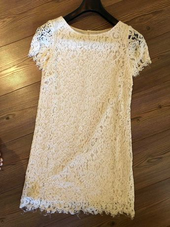 Zara бяла дантелена рокля
