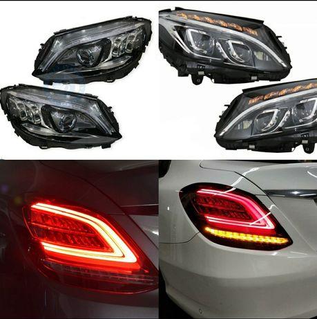 W205 facelift стопове, ils дизайн фарове LED Mercedes S205 c205 Cklas