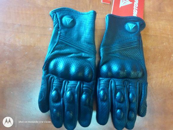 Мото ръкавици от естествена кожа