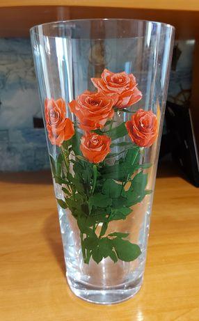 Продам вазу стеклянную